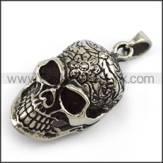 Exquisite Stainless Steel Skull Pendant   p003997