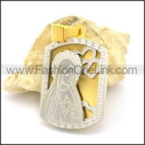 Delicate Stainless Steel Casting Pendant      p002391