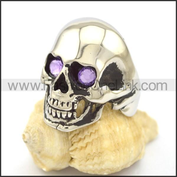 Stainless Steel Skull Ring r001977