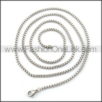 Silver Stamping Necklace n001217