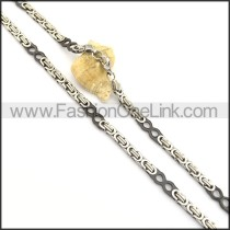 Delicate Black and Silver Plated Necklace n000813