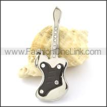 Lovely Guitar Stainless Steel Pendant p000971