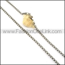 Interlocking Stamping Necklace    n000340