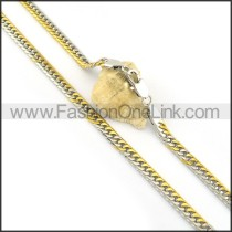 Succinct Golden Plated Necklace n000600