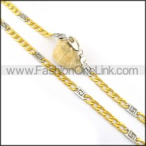 Delicate Two Tone Plated Necklace n000602
