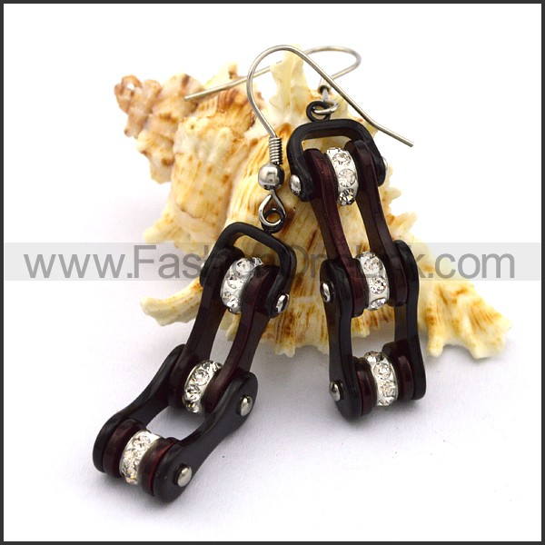 Fashion Stainless Steel Biker Earrings    e001064