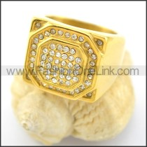 Exquisite Stone Stainless Steel Ring r001621