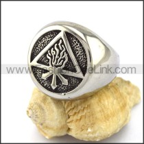 Delicate Stainless Steel Casting Ring r002865