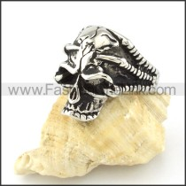 Stainless Steel Punk Design Skull Ring r000594