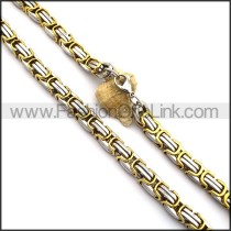 Two Tone Plated Necklace n001027