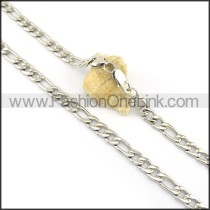 Good Quality Silver Stamping Necklace n000617