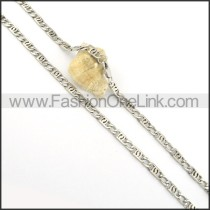 Unique Stainless Steel Stamping Necklace n000545