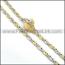 Exquisite Two Tone Plated Necklace n000783