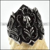 Stainless Stee Special Design lBlack Ring  r000078