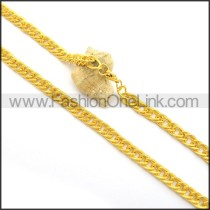 Gold Interlocking Plated Necklace n001018