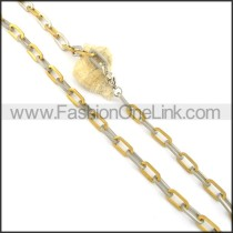 Golden Chain Plated Necklace n000533