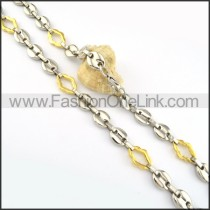 Gold and Silver Plated Necklace      n000191