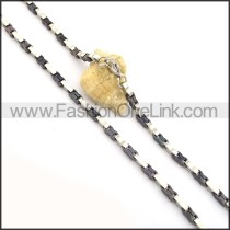 Delicate Two Tone Plated Necklace n000827