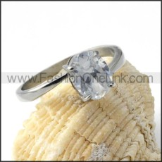 316L Stainless SteelRectangle Zircon Ring r000025