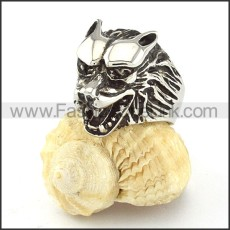 Stainless Steel Wolf Ring r000540