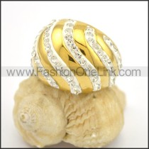 Exquisite Shiny Stone Stainless Steel Ring r002783