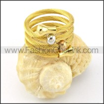 Stainless Steel Rope Ring in Golden Color r000579
