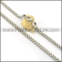 Graceful Silver Stamping Necklace n000611
