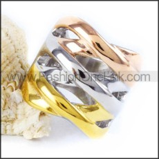 Stainless Steel Plated Ring r000046