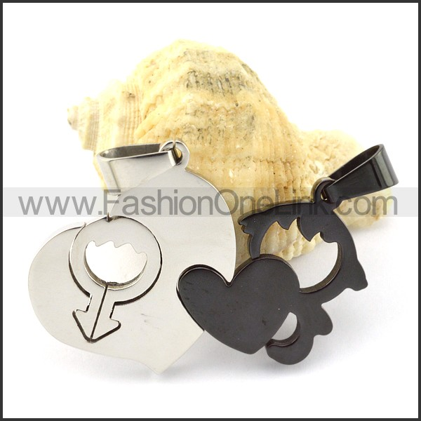 Exquisite Stainless Steel Couple Pendant  p000947