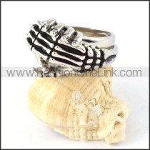 Human Skeleton Knuckle Finger Ring in Stainless Steel r000301