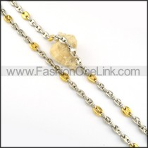 Elegant Two Tone Plated Necklace      n000186