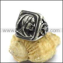 Exquisite Stainless Steel Casting Ring  r003309
