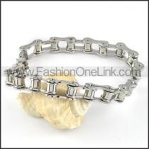 Delicate Stainless Steel Biker Bracelet b000568