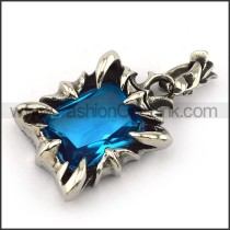 Prong Setting Stainless Steel Stone Pendant   p003908