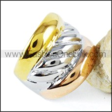Stainless Steel Special Plated Ring r000050