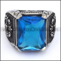 Exquisite Vintage Staninless Steel Stone Ring  r003455