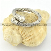 Stainless Steel Classic Rope Ring r000580