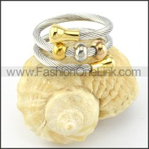 Stainless Steel Rope Ring in Silver Color r000576