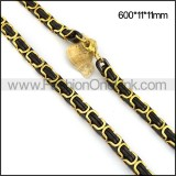 Black and Gold Plated Necklace n001114
