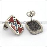 Vintage Red Stone Biker Earrings  e001185