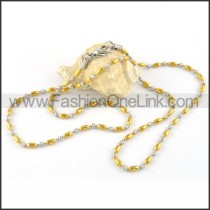 Two Tone Balls Plated Necklace   n000049