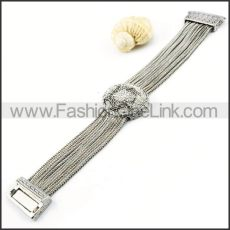 Translucent Stone Watch Dial and Chain Watch Band Bracelet b000005