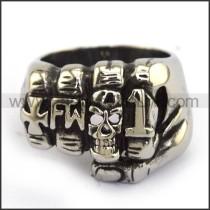 Stainless Steel Skull Ring  r003700