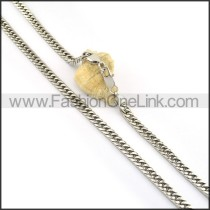 Succinct Silver Stamping Necklace n000598