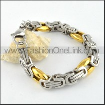 Two Tone Plated Bracelet b000313