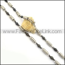 Hot Selling Two Tone Plated Necklace n000824