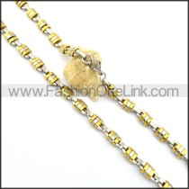 Unique Two Tone Plated Necklace n000798