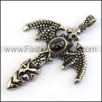 Delicate Stainless Steel Casting Pendant p002024