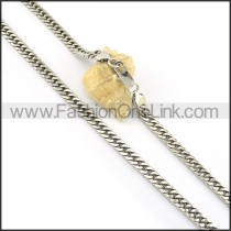 Silver Stamping Necklace n000599