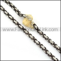Black and Silver Plated Necklace  n000151